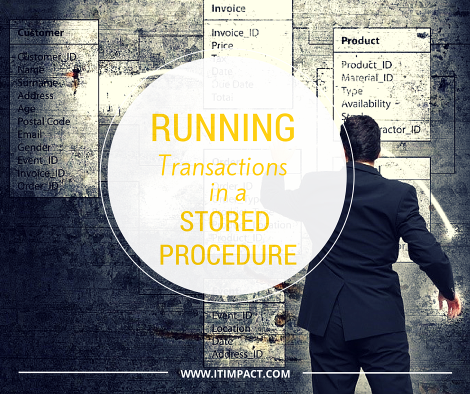 RUNNING TRANSACTIONS IN A STORED PROCEDURE IT IMPACT Access Experts Ben Clothier Chicago
