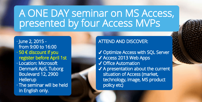 MS Access Seminar Denmark