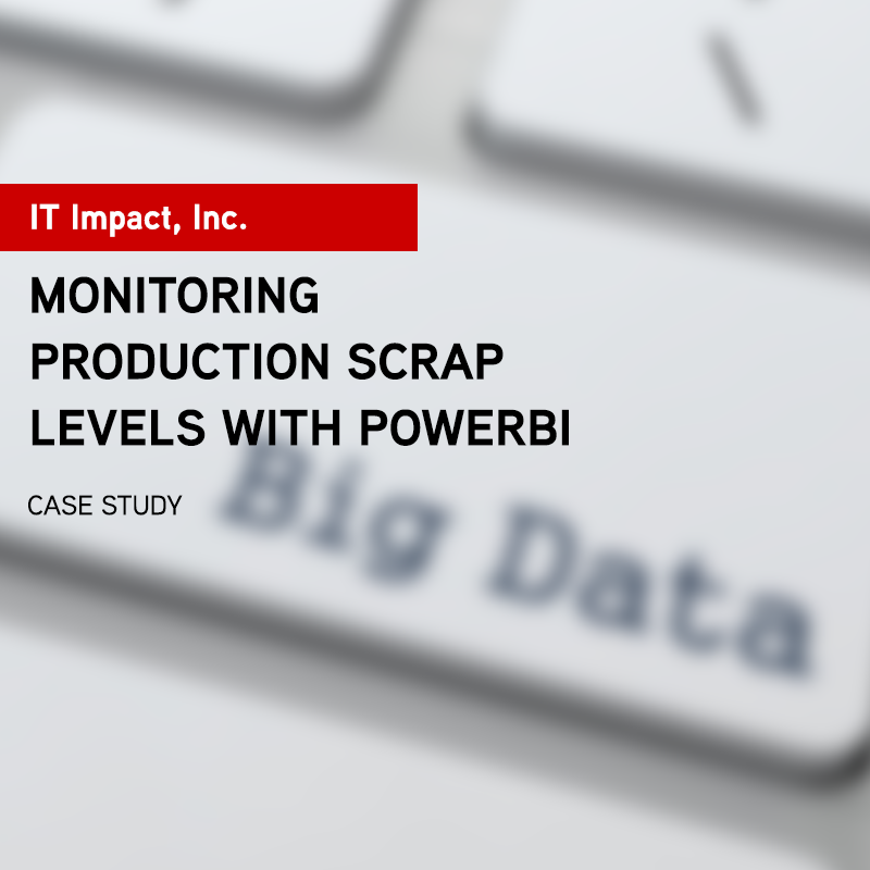 Monitoring Production Scrap Levels with PowerBI