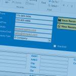 Access Contact Database - Main Screen