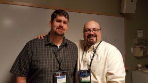Ben Clothier y yo en la cumbre de MVP del año pasado