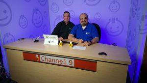 Andy Tabisz y yo haciendo videos para el Canal 9