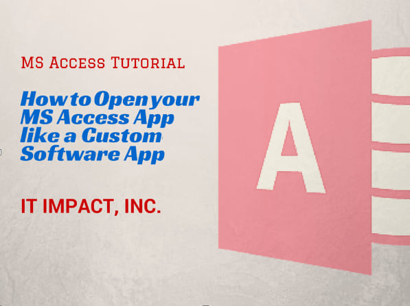 Open your MS Access App  like a Custom Software App