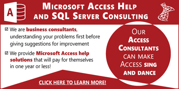 MS Access Consulting
