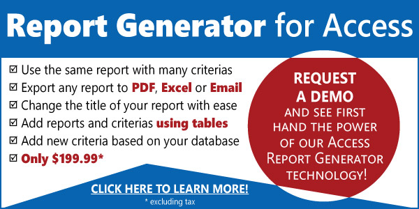 MS Access Report Generator