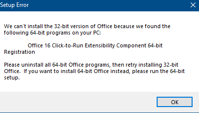 Office 16 Click and Run