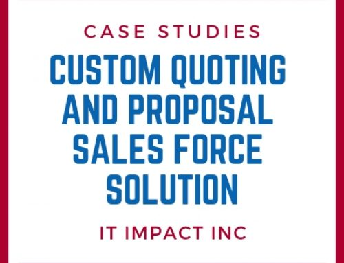 Custom Quoting and Proposal Sales Force Solution
