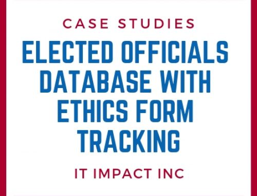 Elected Officials Database with Ethics Form tracking