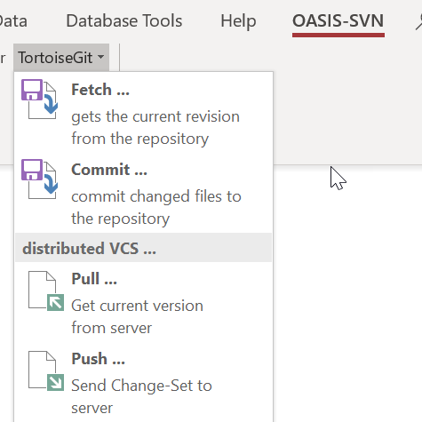 Using OASIS-SVN and git for Access source code control - Access